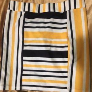 yellow mod mini skirt